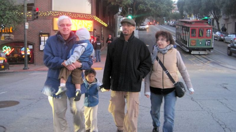 The family visits san fran